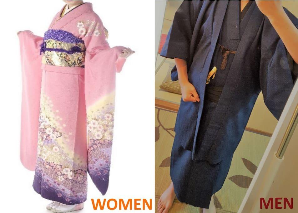 Example of Kimono/ Kimono design is different depends on season