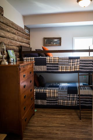 Bunk beds adjacent to bedrooms 1 and 3