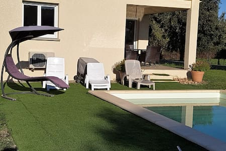 Chambre privée dans maison avec piscine au calme - Antisanti