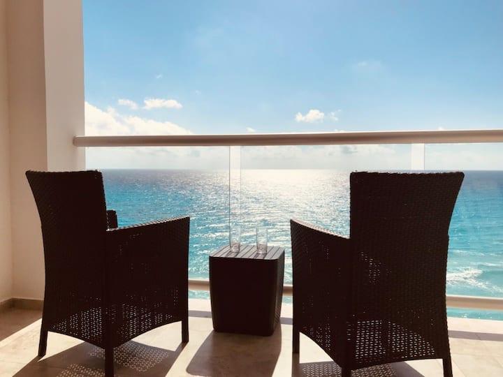 Loft vista al mar caribe y playa/Beach Front 2F