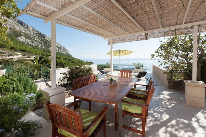 ctma102 - Holiday house with private pool in Makarska, below the Biokovo Mountains, two residential units