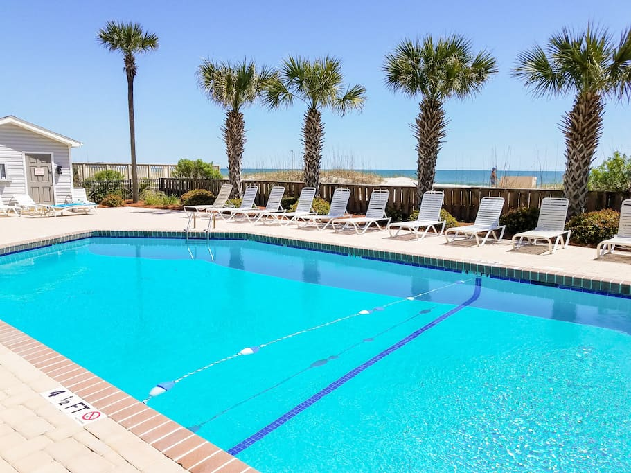Spend sun-drenched afternoons at the community pool.
