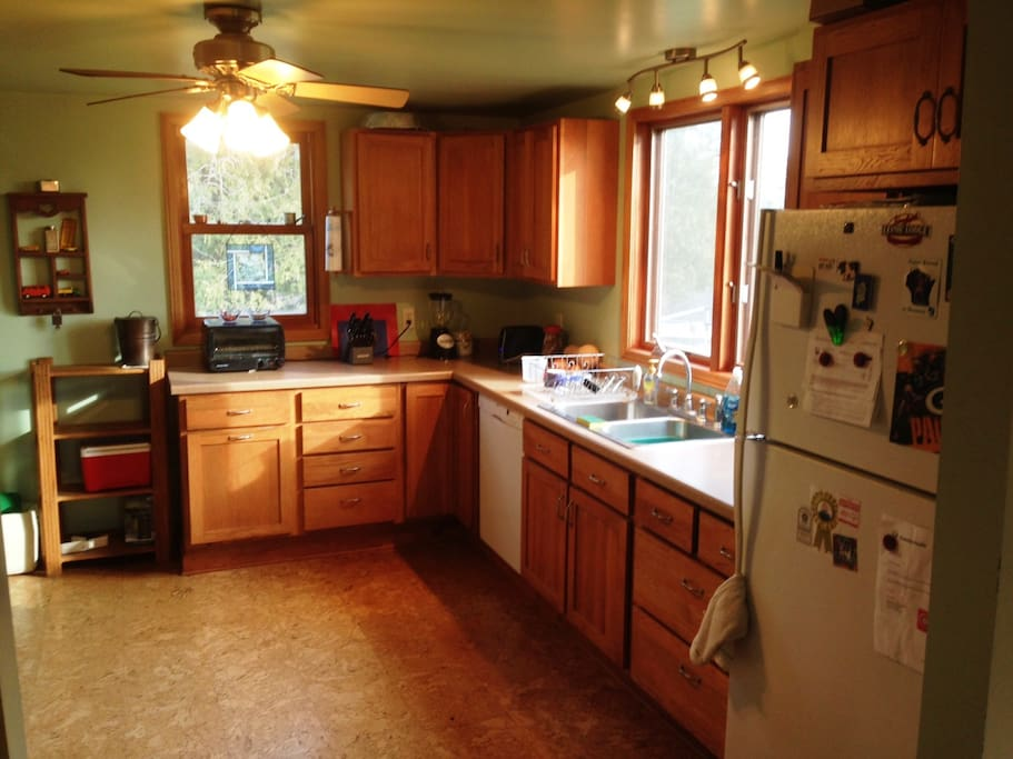 Comfy country kitchen with great morning light