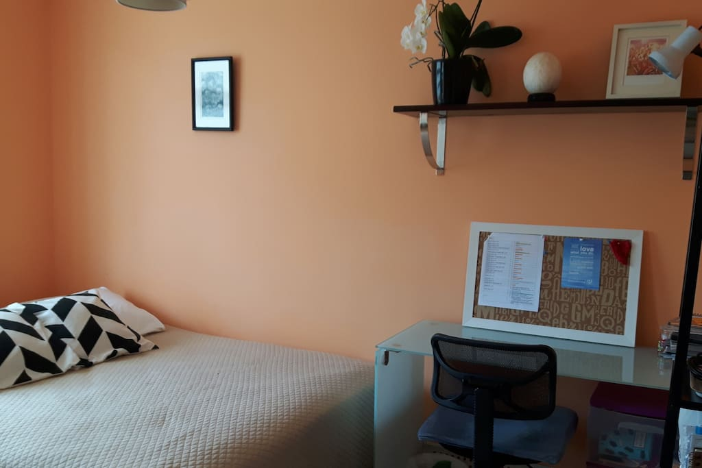 Guest room with working desk