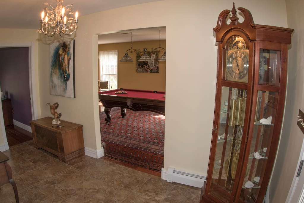 Foyer leading to Billards Room