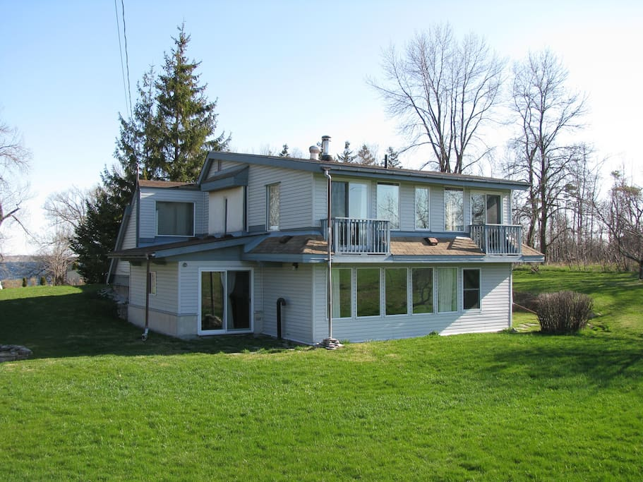 South ( sunny side) of property