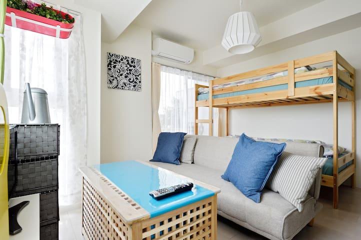 ♡Namba 3 min. Cute Room For 3 ! Just like a Alice♡ - Ōsaka-shi - Apartment