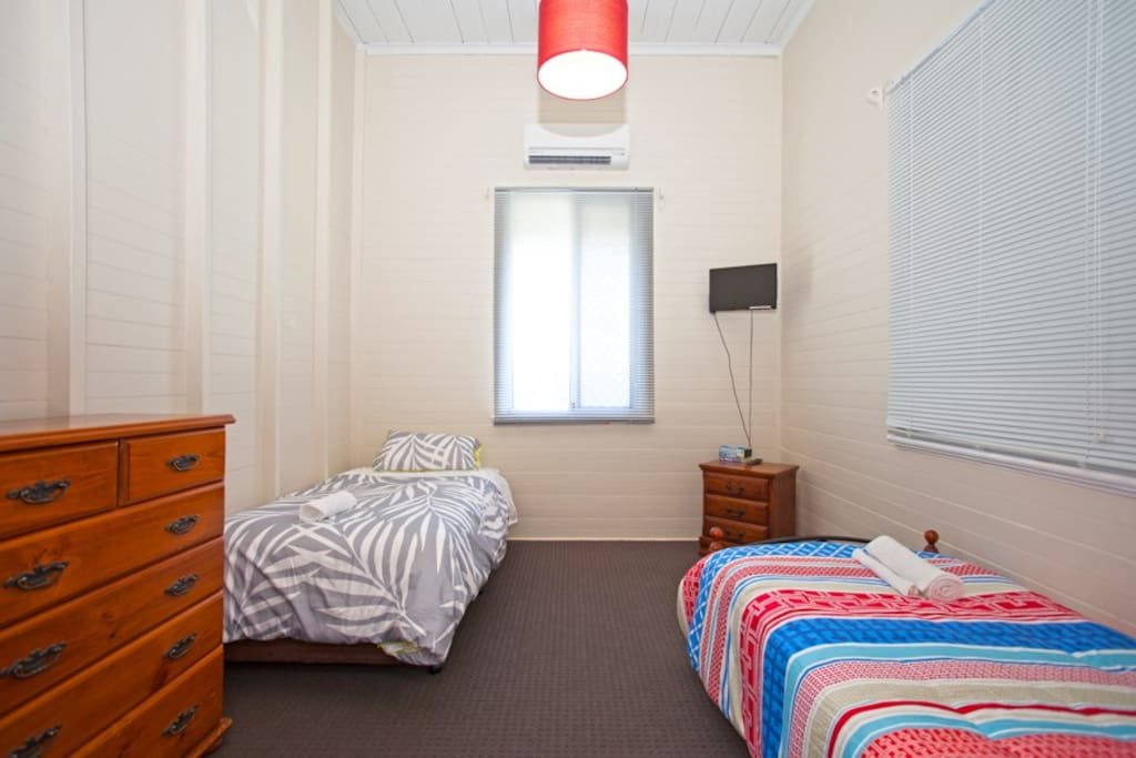 1 King single bed and a single bed
