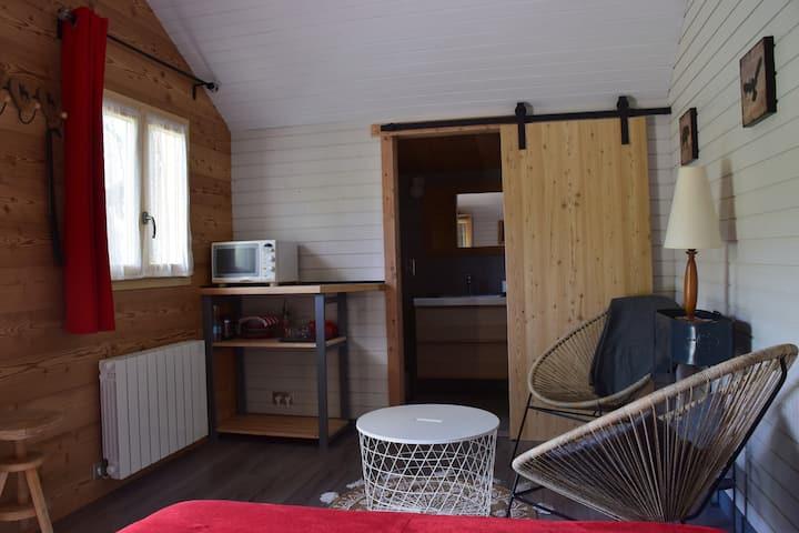 Chambre indépendante à Briançon, ambiance chalet