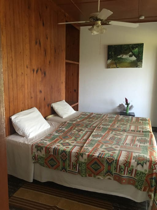 Spacious, comfortable and clean Twin bed room. This is bedroom number one.