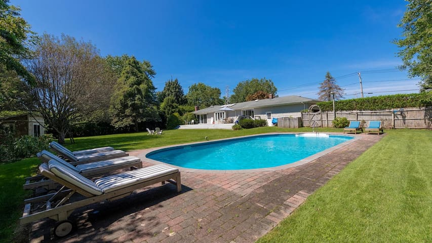 New Listing: Contemporary Southampton Home on a Secluded Half-Acre, Private Lot w/ Heated Pool