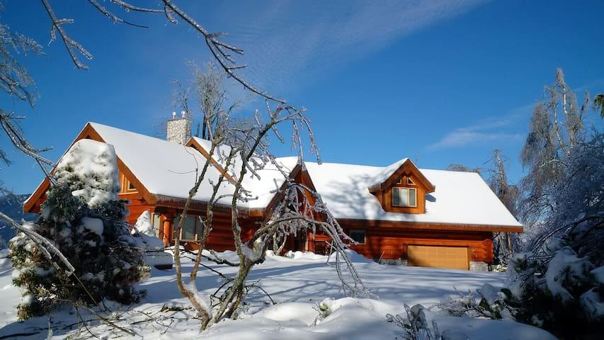 Prestigous Mountaintop Log Home