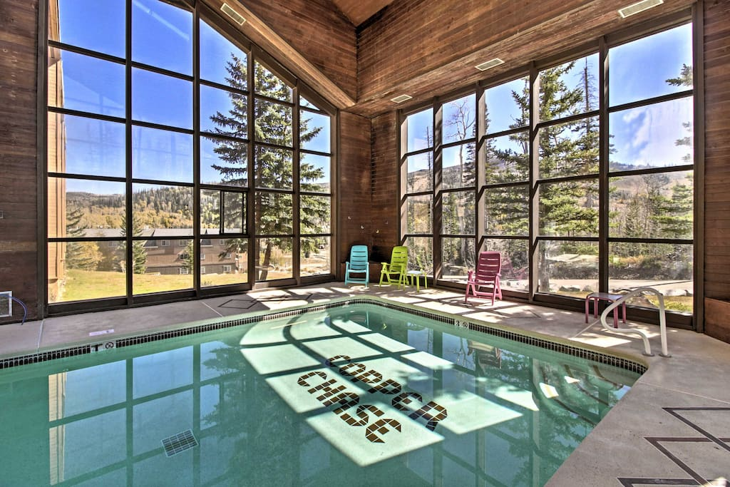 There's an indoor commuity pool at this Brian Head vacation rental condo!