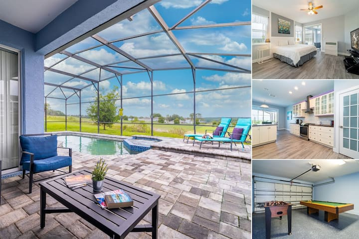 Beautiful Pool Home with Spa & Games Room in Golf Community (460BON)