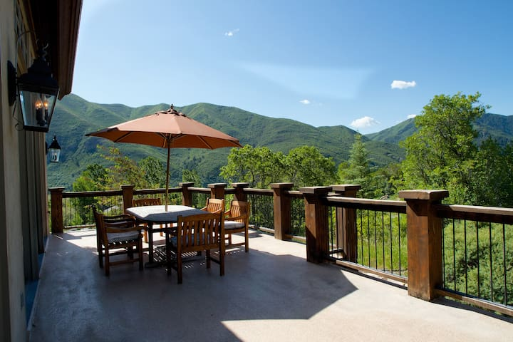 Awesome viewsHuge deck off great rm dining for 10. large weber gas grill
