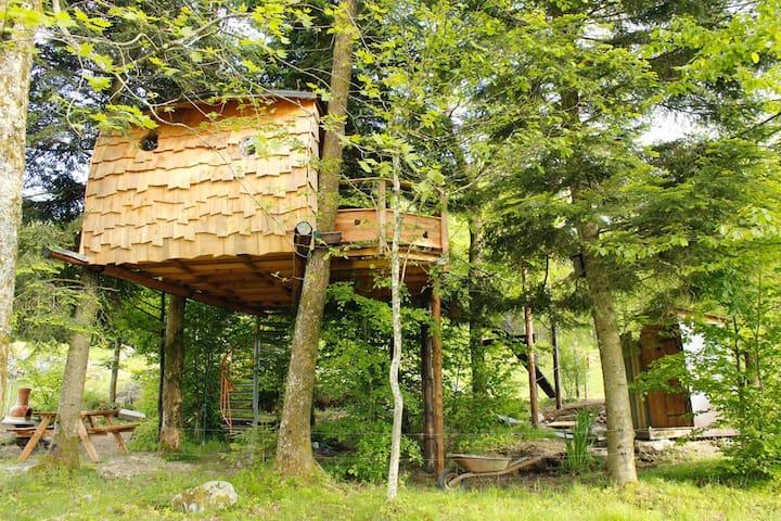 Cabane dans les arbres Hautes-Vosges