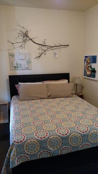 Master bedroom Queen-sized bed