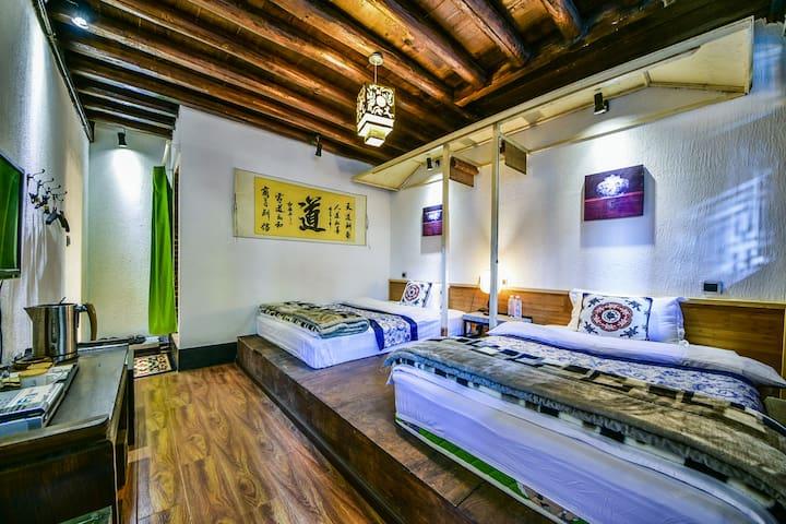 八月院景双床房