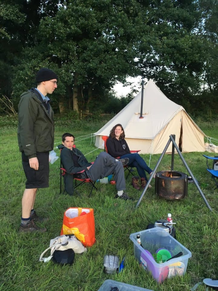 Bell tent with beds, sheets and towels provided