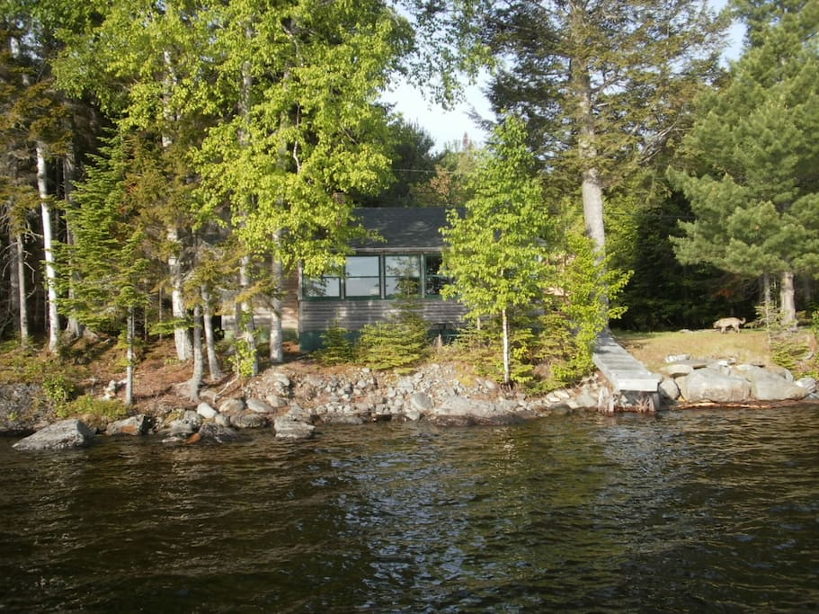 Taken from the lake, note the privacy and natural feel.