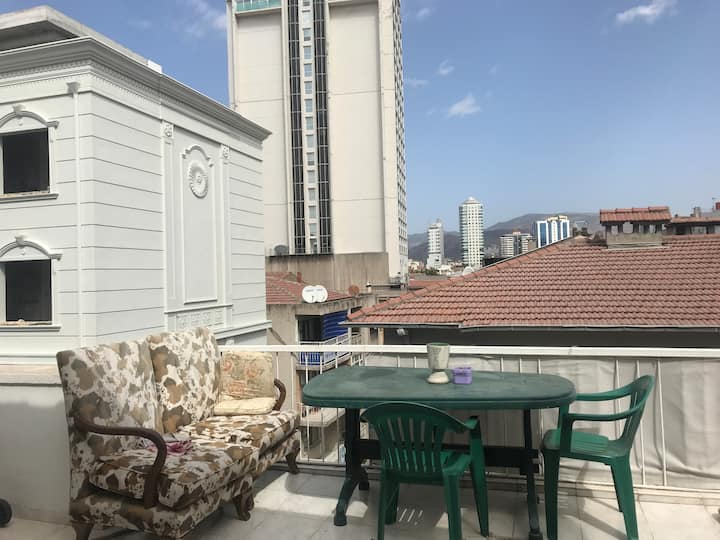 İzmir Alsancak Top Floor with Terrace / 1 person