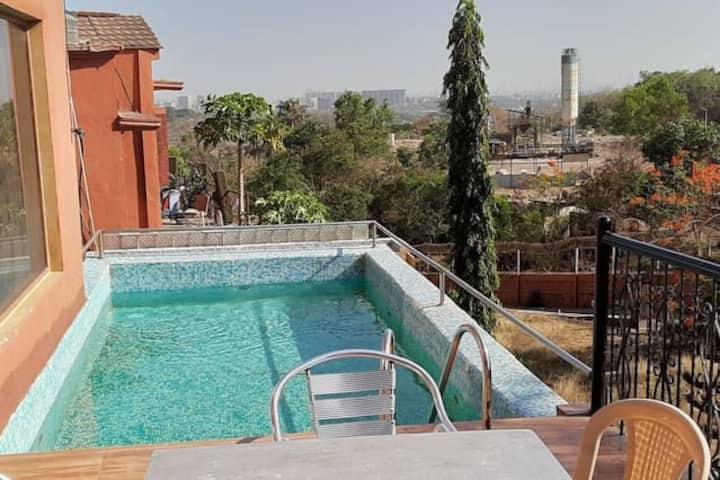 3 BHK Twin pool villa with Lawn