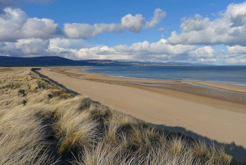 Dornoch beach has endless white sand.