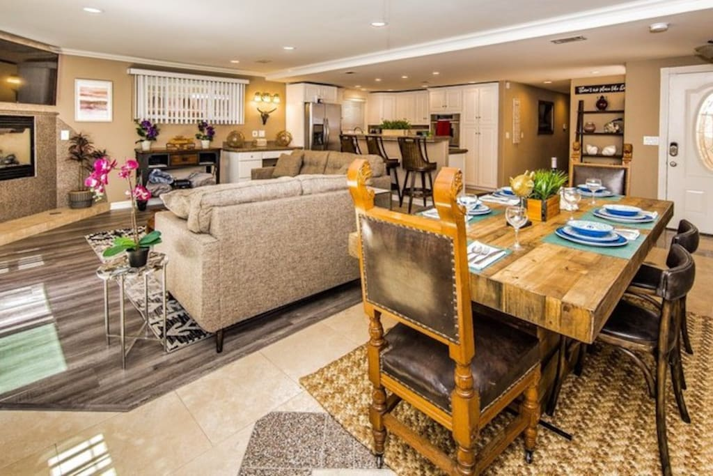 Living area is very large and wide open for entertaining