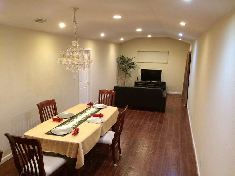 Dining room and family room...