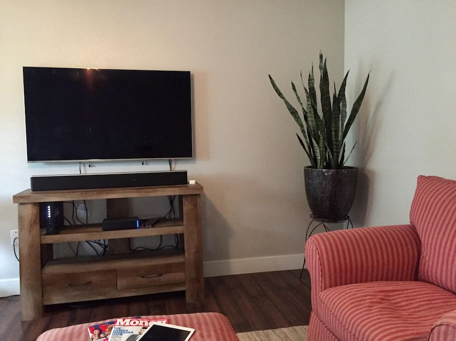 Large Smart TV with Cable