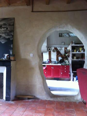 Chambre privée dans maison atypique - Marçon - Dom