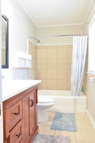 Nice, clean and functional bathrooms.