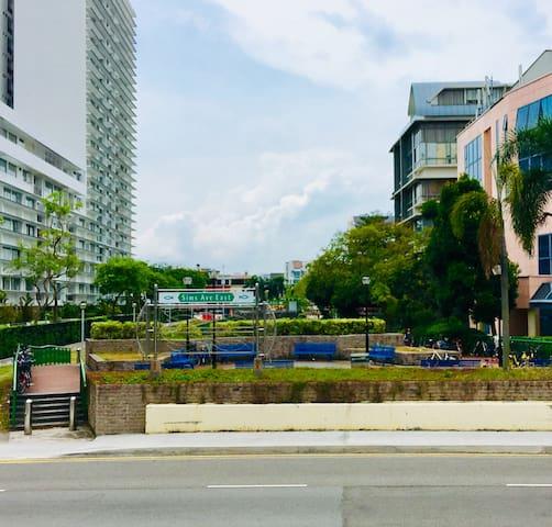 Park Connector to East Coast Beach.