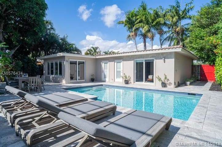 Luxurious home with private heated pool
