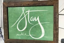 """You will want to """"stay awhile"""" at Topside in Sunapee Harbor!"""