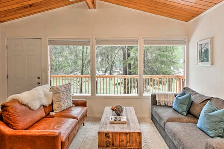 NEW! Pet-Friendly Riverside Cabin w/ Deck & Views!