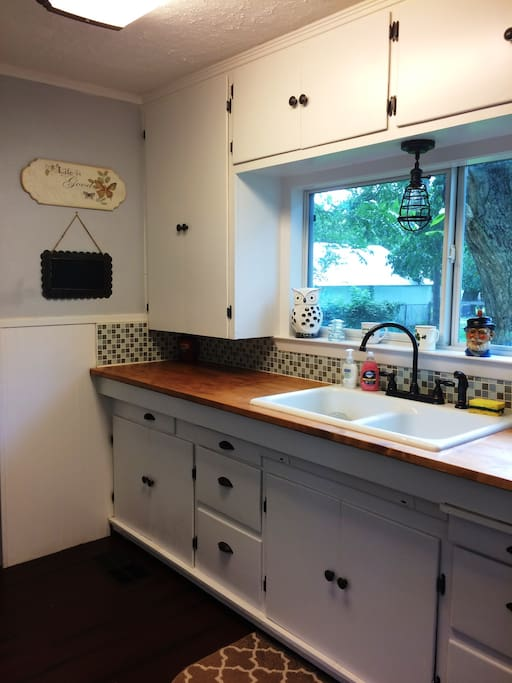 Kitchen with Stove, Microwave and Dishwasher
