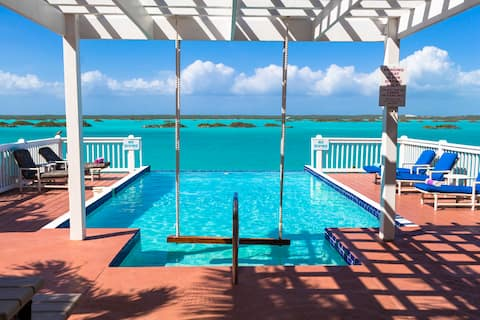 WOW! Waterfront Chalk Sound Oasis w/ Infinity Pool