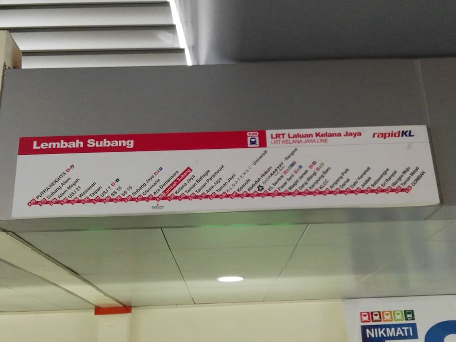 Apartment block adjoining LRT station with stops at major well known KL spots
