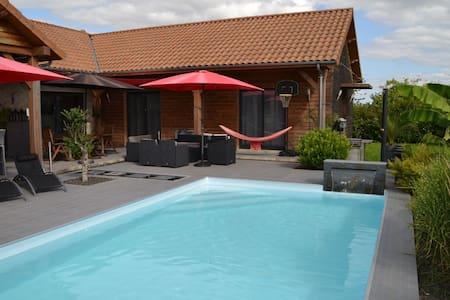 Maison vacances avec piscine proche lacs Champagne