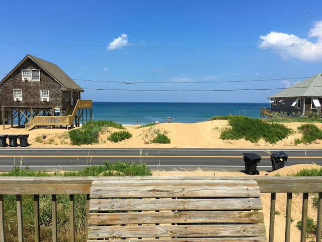 Beautiful Sunrises are yours from this Pet Friendly 4 bedroom Semi Oceanfront Home