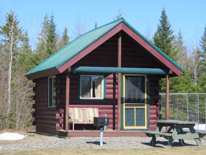 4.  Cute cabin for 3 with pond view.