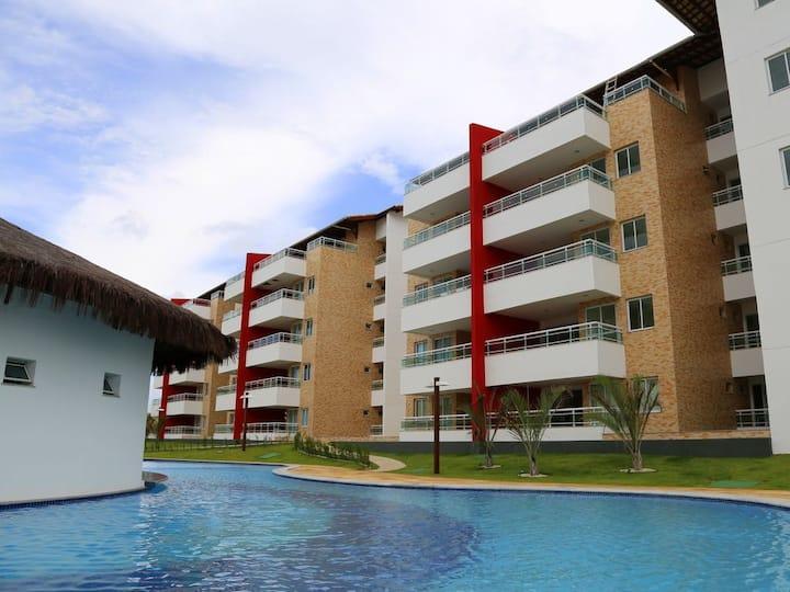 Apartamento 3 quartos Porto das Dunas frente mar.