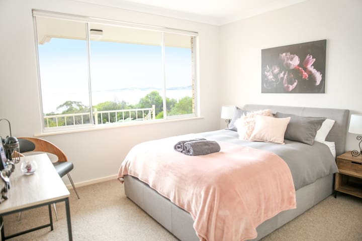 Enjoy the views from the main bedroom