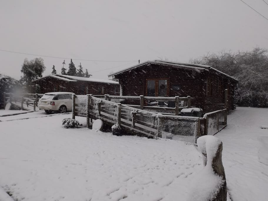 Foxglove Lodge in the snow