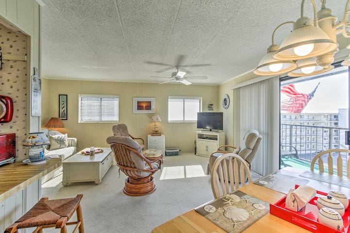 Find refuge from the sun in the spacious living area.