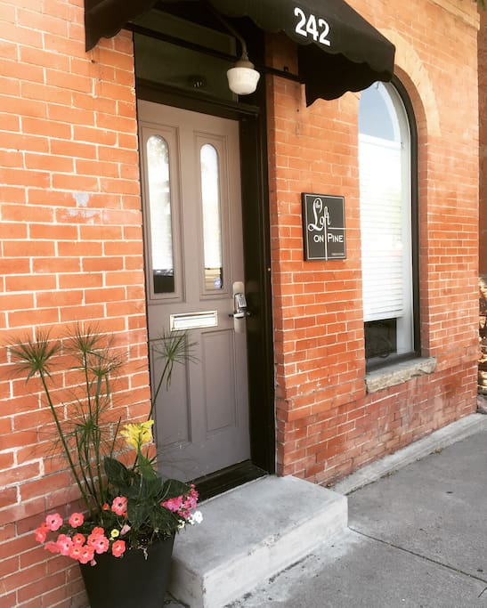 Front entrance is always looking great with fresh flowers!
