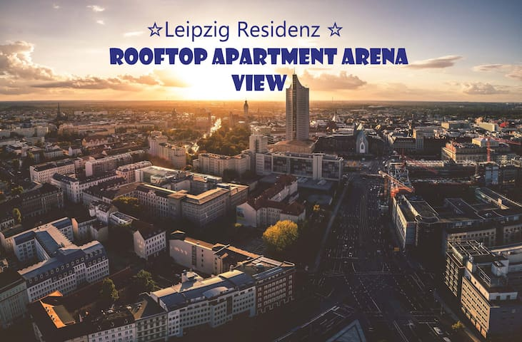 ☆Leipzig Residenz ☆2 Rooftops Apartment Arena View