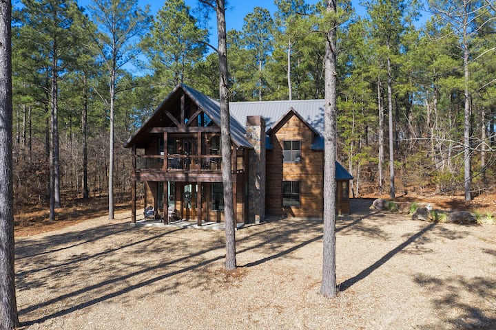 The most charming cabin in ALL of Oklahoma! This cabin has 3 bedrooms and 2 ½ baths. No Pets. Sleeps 10