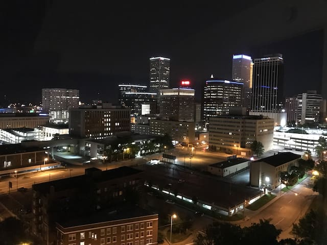 Room with a view...of downtown Tulsa
